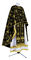 Greek Priest vestments - Golgotha metallic brocade BG2 (black-gold), Standard design
