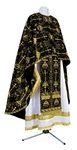 Greek Priest vestment -  metallic brocade BG2 (black-gold)