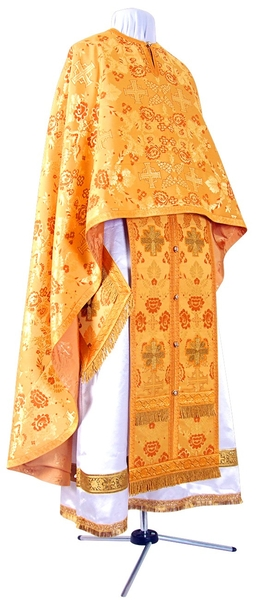 Greek Priest vestment -  metallic brocade BG2 (yellow-claret-gold)