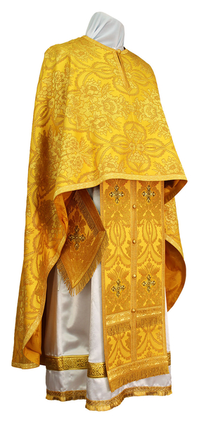 Greek Priest vestment -  metallic brocade BG2 (yellow-gold)