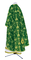 Greek Priest vestments - Golgotha metallic brocade BG2 (green-gold) back, Standard design