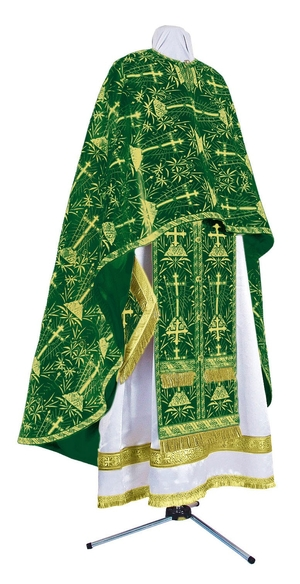 Greek Priest vestment -  metallic brocade BG2 (green-gold)