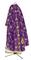 Greek Priest vestments - Golgotha metallic brocade BG2 (violet-gold) back, Standard design