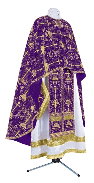 Greek Priest vestment -  metallic brocade BG2 (violet-gold)