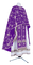 Greek Priest vestments - Golgotha metallic brocade BG2 (violet-silver), Standard design