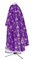 Greek Priest vestments - Golgotha metallic brocade BG2 (violet-silver) back, Standard design