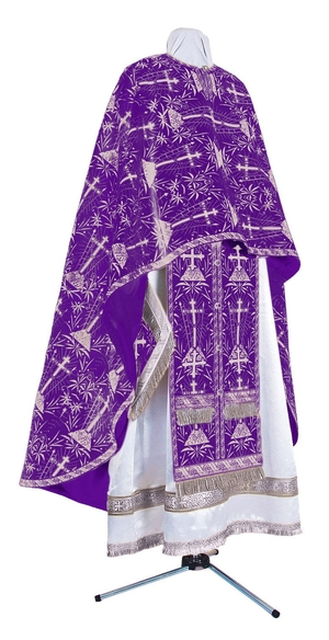 Greek Priest vestment -  metallic brocade BG2 (violet-silver)