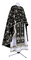 Greek Priest vestments - Golgotha metallic brocade BG2 (black-silver), Standard design