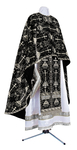 Greek Priest vestment -  metallic brocade BG2 (black-silver)