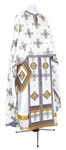 Greek Priest vestment -  metallic brocade BG2 (white-gold)