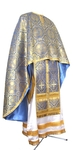 Greek Priest vestment -  metallic brocade BG3 (blue-gold)