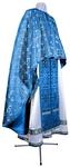 Greek Priest vestment -  metallic brocade BG3 (blue-silver)
