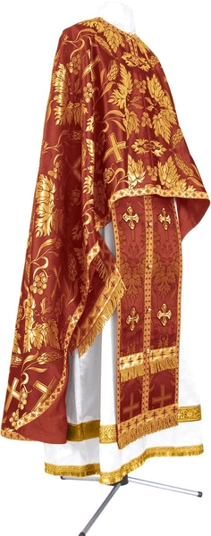 Greek Priest vestment -  metallic brocade BG3 (claret-gold)