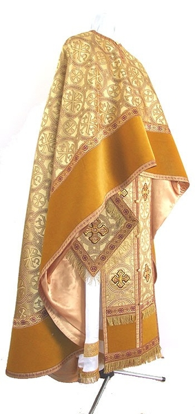 Greek Priest vestment -  metallic brocade BG3 (yellow-gold)