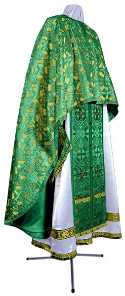 Greek Priest vestment -  metallic brocade BG3 (green-gold)