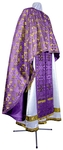 Greek Priest vestment -  metallic brocade BG3 (violet-gold)