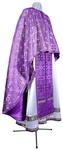 Greek Priest vestment -  metallic brocade BG3 (violet-silver)