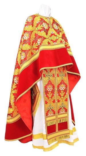 Greek Priest vestment -  metallic brocade BG3 (red-gold)