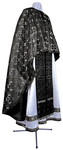 Greek Priest vestment -  metallic brocade BG3 (black-silver)