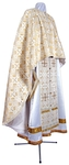 Greek Priest vestment -  metallic brocade BG3 (white-gold)