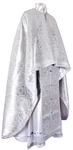 Greek Priest vestment -  metallic brocade BG3 (white-silver)