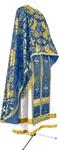 Greek Priest vestment -  metallic brocade BG4 (blue-gold)