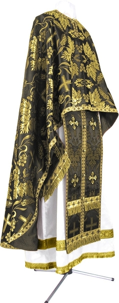 Greek Priest vestment -  metallic brocade BG4 (black-gold)
