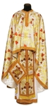 Greek Priest vestment -  metallic brocade BG4 (yellow-claret-gold)