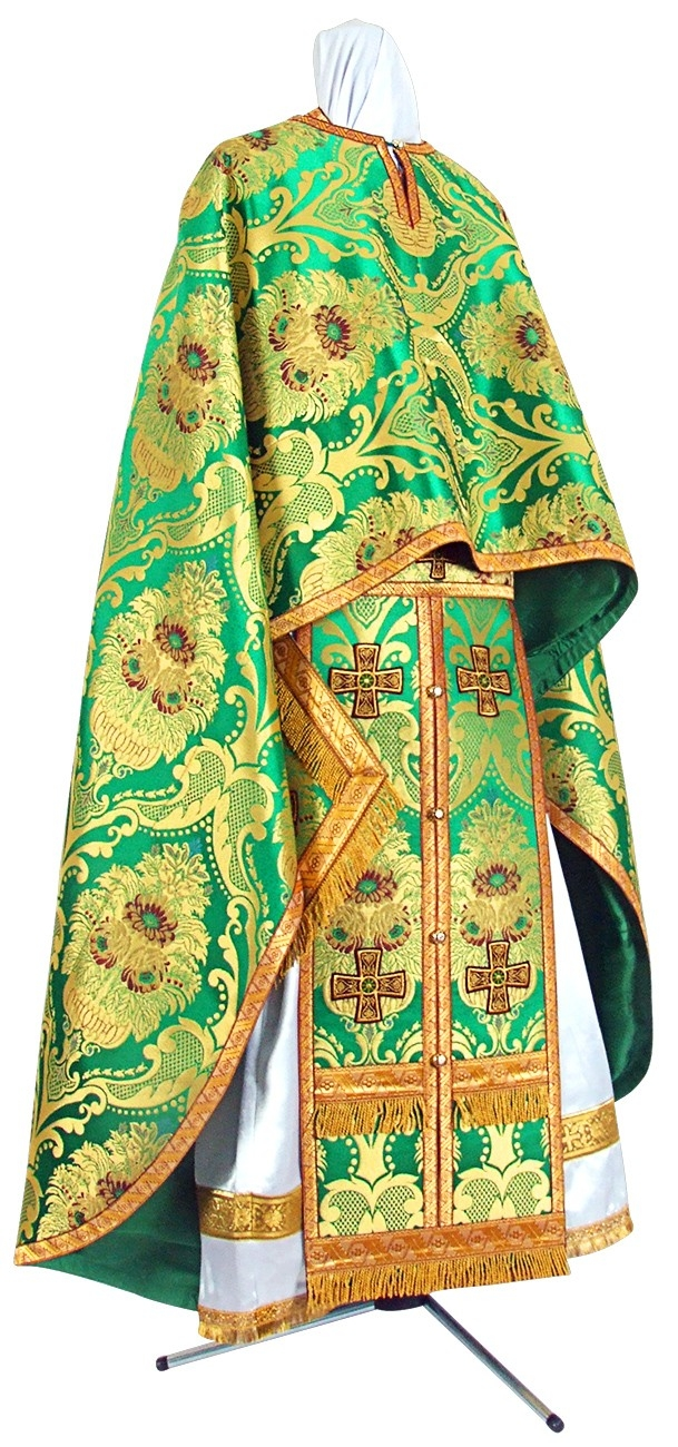 Orthodox Church liturgical Greek Priest clergy vestments (green-gold