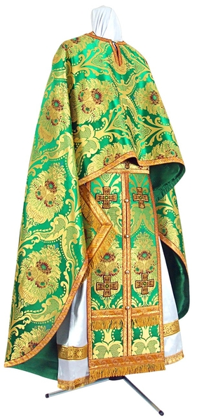 Greek Priest vestment -  metallic brocade BG4 (green-gold)