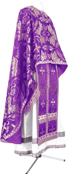 Greek Priest vestment -  metallic brocade BG4 (violet-silver)