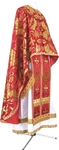 Greek Priest vestment -  metallic brocade BG4 (red-gold)