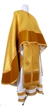 Greek Priest vestment -  metallic brocade BG5 (yellow-claret-gold)
