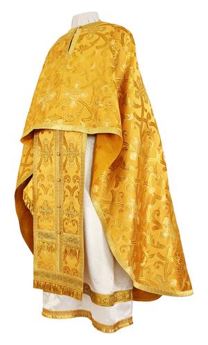 Greek Priest vestment -  metallic brocade BG5 (yellow-gold)