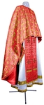 Greek Priest vestment -  metallic brocade BG5 (red-gold)