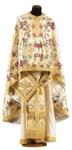 Greek Priest vestment -  metallic brocade BG5 (white-gold)