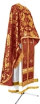 Greek Priest vestment -  metallic brocade BG6 (claret-gold)