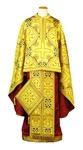 Greek Priest vestment -  metallic brocade BG6 (yellow-claret-gold)