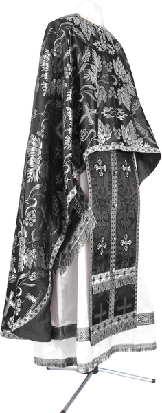 Greek Priest vestment -  metallic brocade BG6 (black-silver)