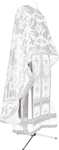 Greek Priest vestment -  metallic brocade BG6 (white-silver)