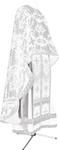 Greek Priest vestment -  metallic brocade BG6 (white-silver)