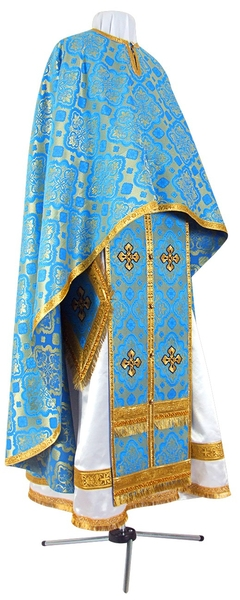 Greek Priest vestment -  rayon brocade S2 (blue-gold)