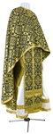 Greek Priest vestment -  rayon brocade S2 (black-gold)
