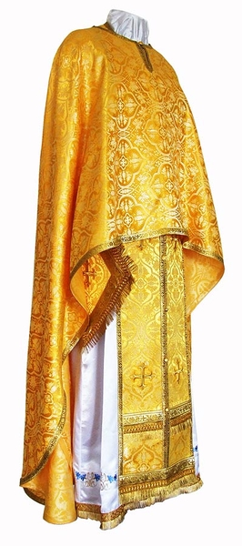 Greek Priest vestment -  rayon brocade S2 (yellow-gold)
