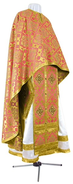 Greek Priest vestment -  rayon brocade S2 (red-gold)