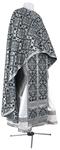Greek Priest vestment -  rayon brocade S2 (black-silver)