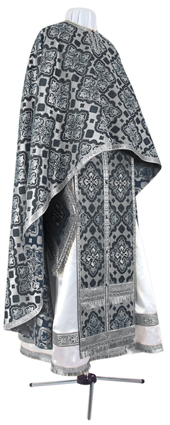 Greek Priest vestment -  rayon brocade S2 (black-silver)