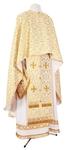 Greek Priest vestment -  rayon brocade S2 (white-gold)
