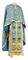 Greek Priest vestments - Vasilia rayon brocade S3 (blue-gold), Economy design