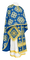 Greek Priest vestments - Kostroma rayon brocade S3 (blue-gold), Standard design